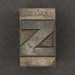 Caslon metal type letter z