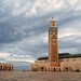 Bold sky and Hassan II Mosque