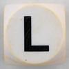 Boggle black letter L