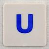 hangman tile blue letter U