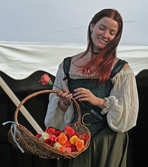 Girl selling roses.  IMG_7893-1.JPG photo by David Freuthal