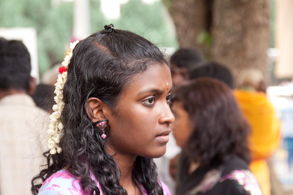 Young indian girl at Thaipusam 2010 in Singapore