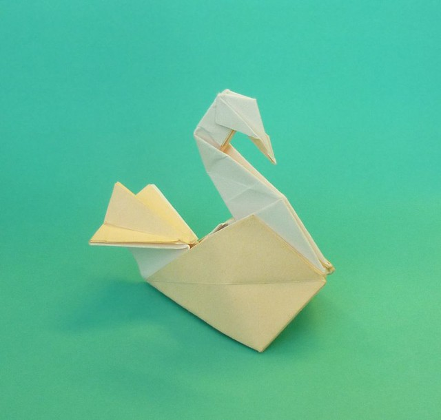 How to fold origami swan embroidery origami for Origami swan easy step by step