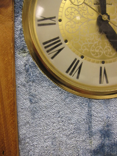 carpet clock close up