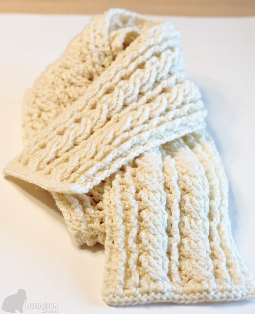 Free Crochet Pattern For Cable Scarf : crochet cable stitch scarf pattern