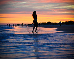 Jumping into the sunset... at the beach?! photo by songbird who sings