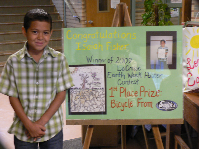 earth day posters contest. 2009 poster contest winner
