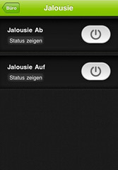 iphone Jalousiesteuerung
