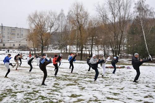 Antrenamentul Taekwon-Do la sesiunea din Hârjăuca