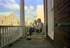 Grandpa on the Porch 1977 Boro Park Brooklyn photo by Whiskeygonebad