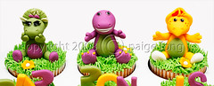Barney & Friends Cupcakes photo by Paige Fong