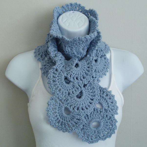 Crochet Scarf Pattern With Pictures : PATTERNS FOR CROCHETED SCARVES Free Patterns