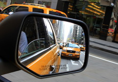 Objects in the rear view mirror photo by alexguite