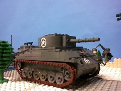 My completed Sherman tank on the set for the re-filming of the LNZ intro photo by Justsuper9