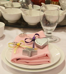 Wedding - Wedding table setting and favors