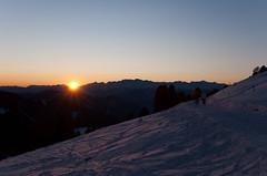 Sonnenuntergang am Jochgrimm