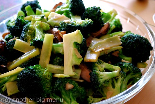 Meal with friends - Stir fried brocolli