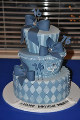 Denim and Diamonds Sweet 16 photo by Designer Cakes By April