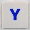 hangman tile blue letter Y
