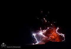 Eyjafjallajokull eruption - lightnings photo by Gummi Stóri