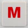 hangman tile red letter M