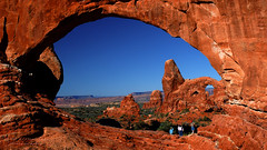 Turret Arch Viewed Through North Window at Arches National Park photo by D200-PAUL -- On Holiday