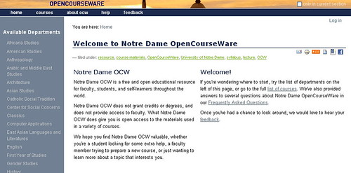 tufts university opencourseware Open educational resources (oers) courses search this guide search open educational resources (oers) much of the course material from the health sciences schools is housed in the tufts university sciences knowledgebase (tusk) and was transformed into ocw format by tusk staff this website represents only a sampling of tufts course materials online tufts ocw.