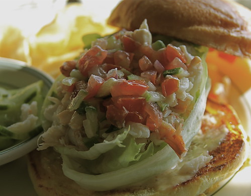 Blue Crab Sandwich at Sam's Chowder House