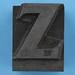 metal type letter Z