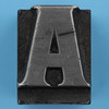 metal type letter A