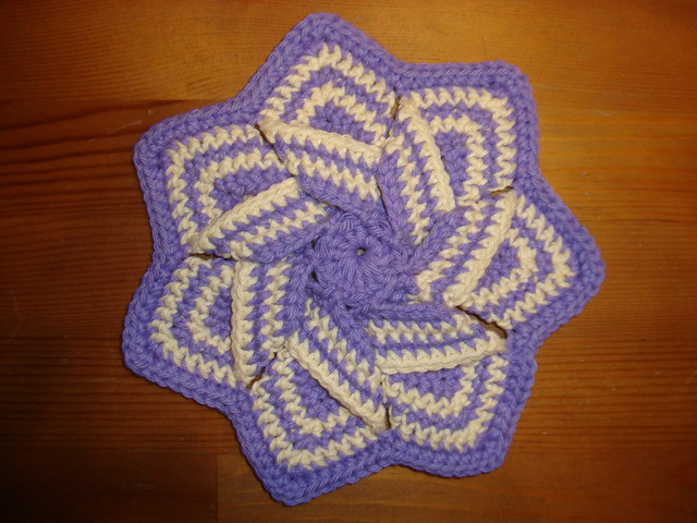 PATTERN – Crocheted Dishcloth, Placemat, Hot pad — Dishcloth