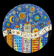 """""""New York City"""" Commissioned Piece  36"""" in Diameter photo by Flair Robinson Studio"""
