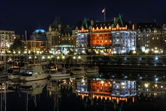 The Empress Hotel Reflected photo by Brandon Godfrey