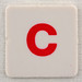 hangman tile red letter C