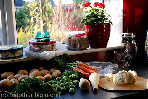 Christmas meal - preparing