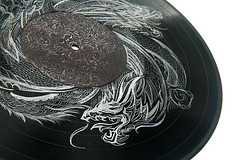 Dragons on Vinyl: Closeup photo by shaire productions