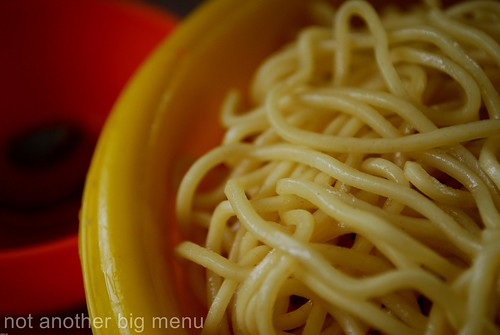 M'sian cooking - Yellow noodles 2