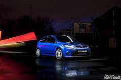 Ford Focus RS Mk2 Performance Blue Long Exposure Collaboration Shot photo by NWVT.co.uk