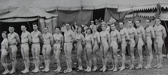 1935 CIRCUS MEN WOMEN Performers Tights Leotards Dance Acrobatic Trapeze Artist Costumes photo by Christian Montone