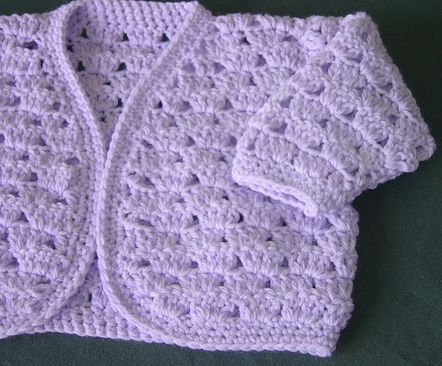 Peter Pan Crochet Pattern 1022: Baby Jacket in DK from McA direct