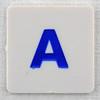 hangman tile blue letter A