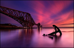 Forth Rail Bridge @ Sunset - Scotland photo by angus clyne