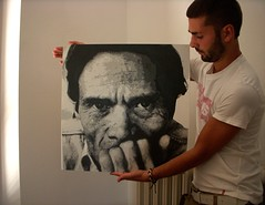 Pier Paolo Pasolini ed io. photo by Lorenzo Anam Tosti