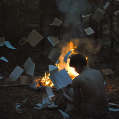 The book burning. photo by alexstoddard