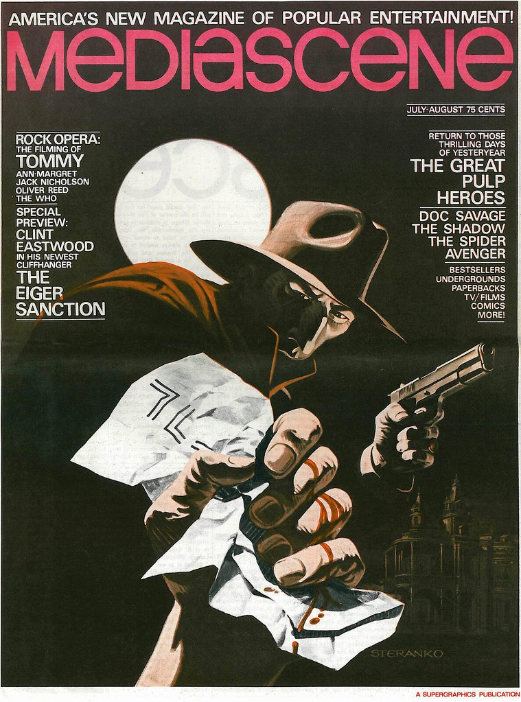 The Shadow MediaScene 14 1975 cover by Steranko