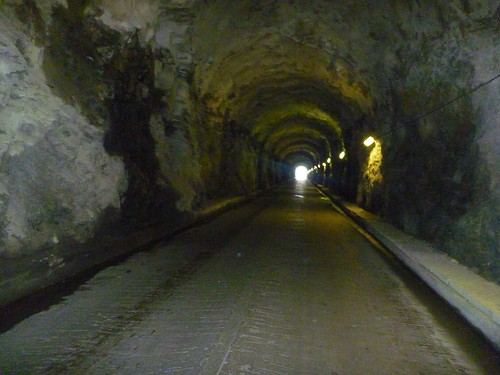 Last tunnel Lac de Moiry at light