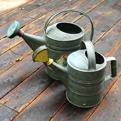 Watering cans (galvanized steel) photo by calloohcallay