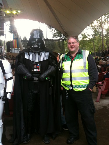 is at the ESO Symphony Under The Stars for John Williams night with THIS guy