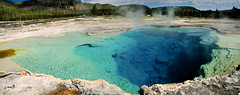 Panorama of Sapphire Pool at Yellowstone National Park photo by D200-PAUL