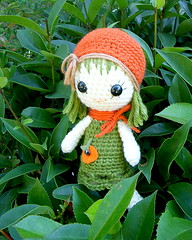 Orange/Pumpkin Qtie-Amigurumi doll photo by TGLD dolls